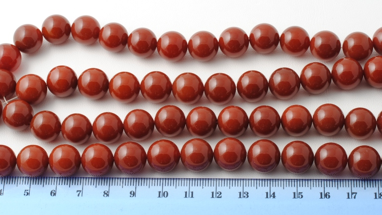 RED AGATE ROUND BEAD 12MM