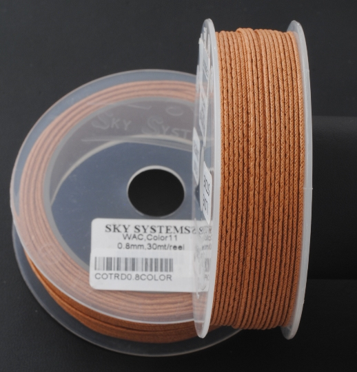 HAZELNUT COLOR WAXED COTTON CORD 8MM X 30MT