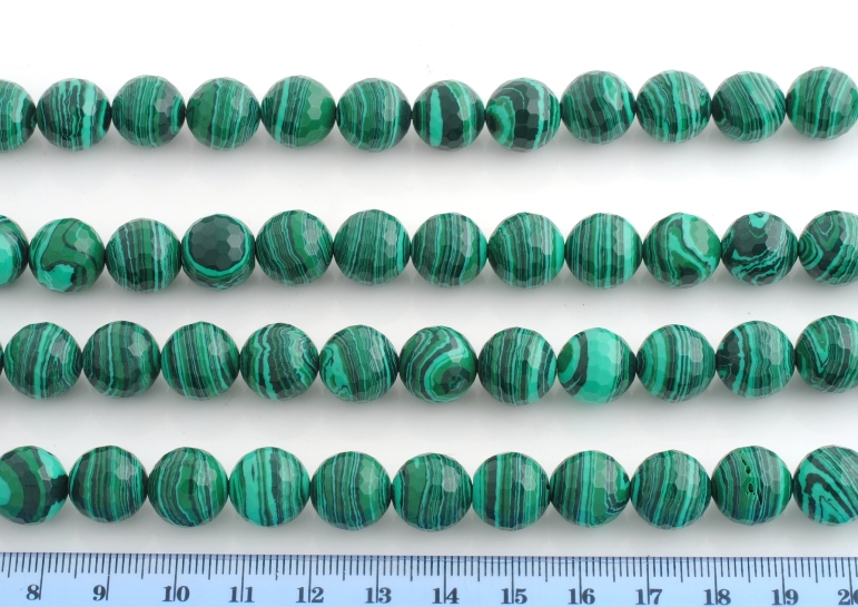 MALACHITE ARTIFICIALE PALLINA SFACCETTATA 12MM