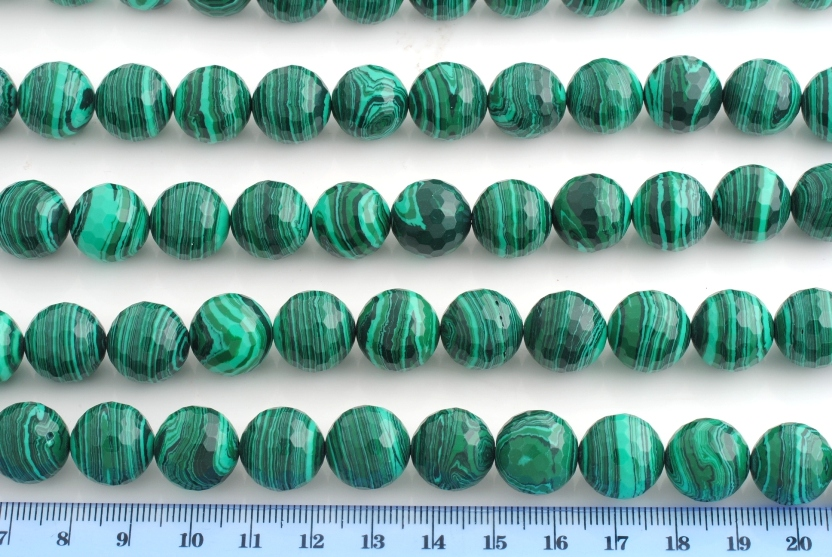 MALACHITE ARTIFICIALE PALLINA SFACCETTATA 14MM