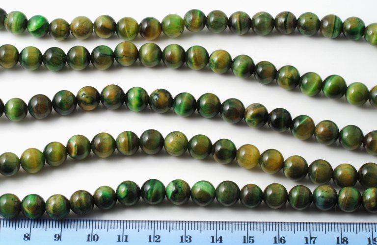 GREEN TIGER EYE SMOOTH SPHERE 8MM