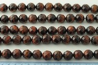 RED TIGER EYE 64 FACES FACETED SPHERE 16MM