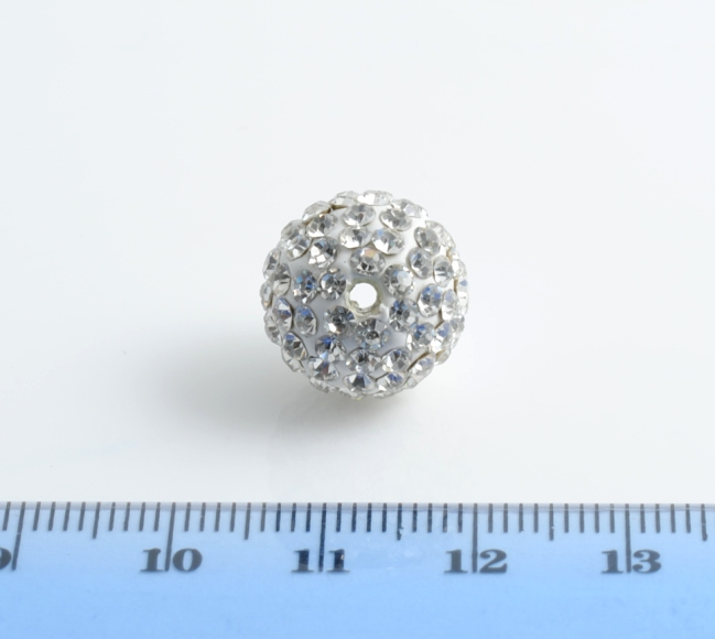 PALLINA STRASS BIANCO CRYSTAL 14MM