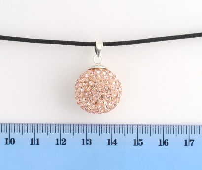 CHIAMA ANGELI IN ARGENTO STRASS CHAMPAGNE 18MM