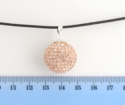 CHIAMA ANGELI IN ARGENTO STRASS CHAMPAGNE 20MM