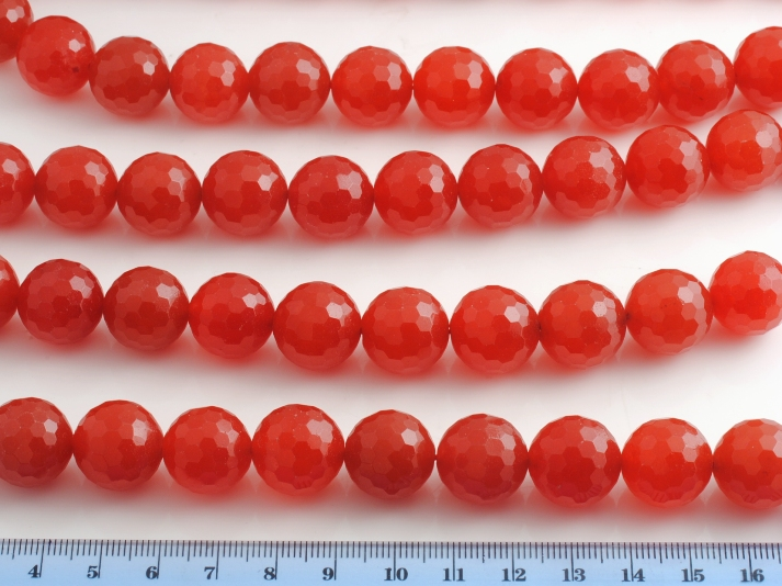 RED JADE FACETED SPHERE 16MM